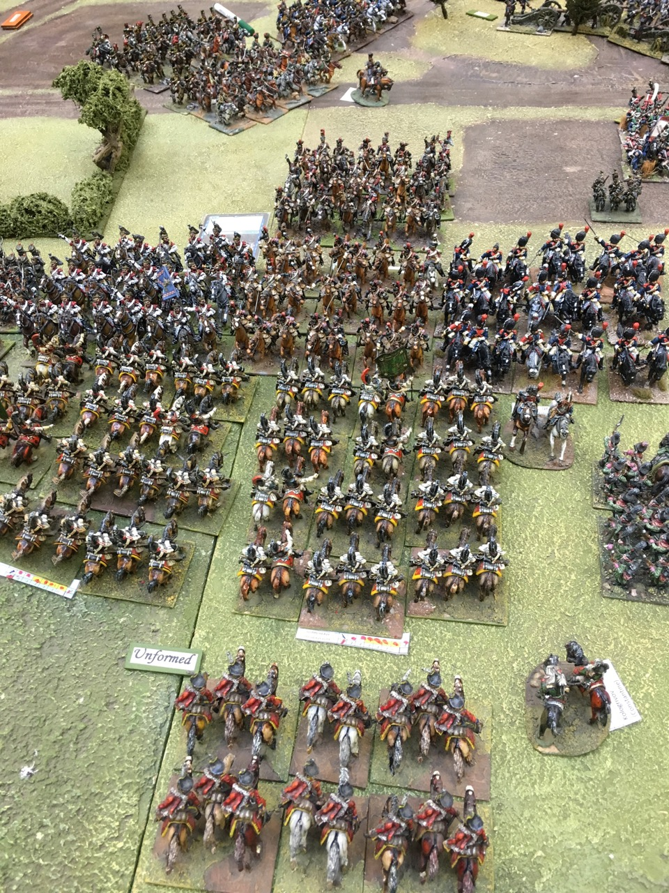 Cuirassier v Cuirassier on the left flank