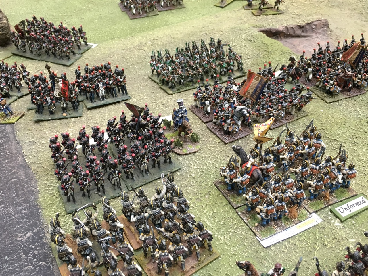 French Grenadiers go straight up the slope