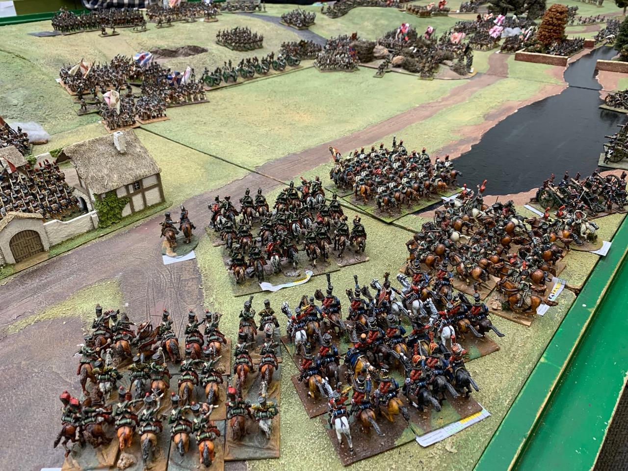 Murat's massed cavalry