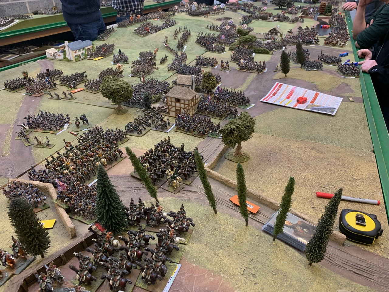 Cuirassier support theFrench  left flank