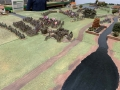 Russian advance down from the heights