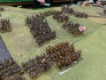 Guard cavalry relieving stress in the middle